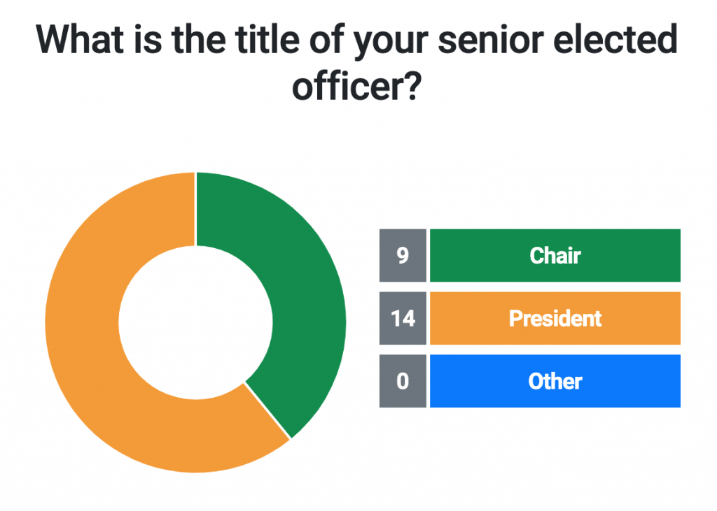 What is the title of your senior elected officer?