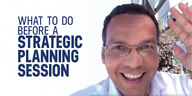 what to do before strategic planning session